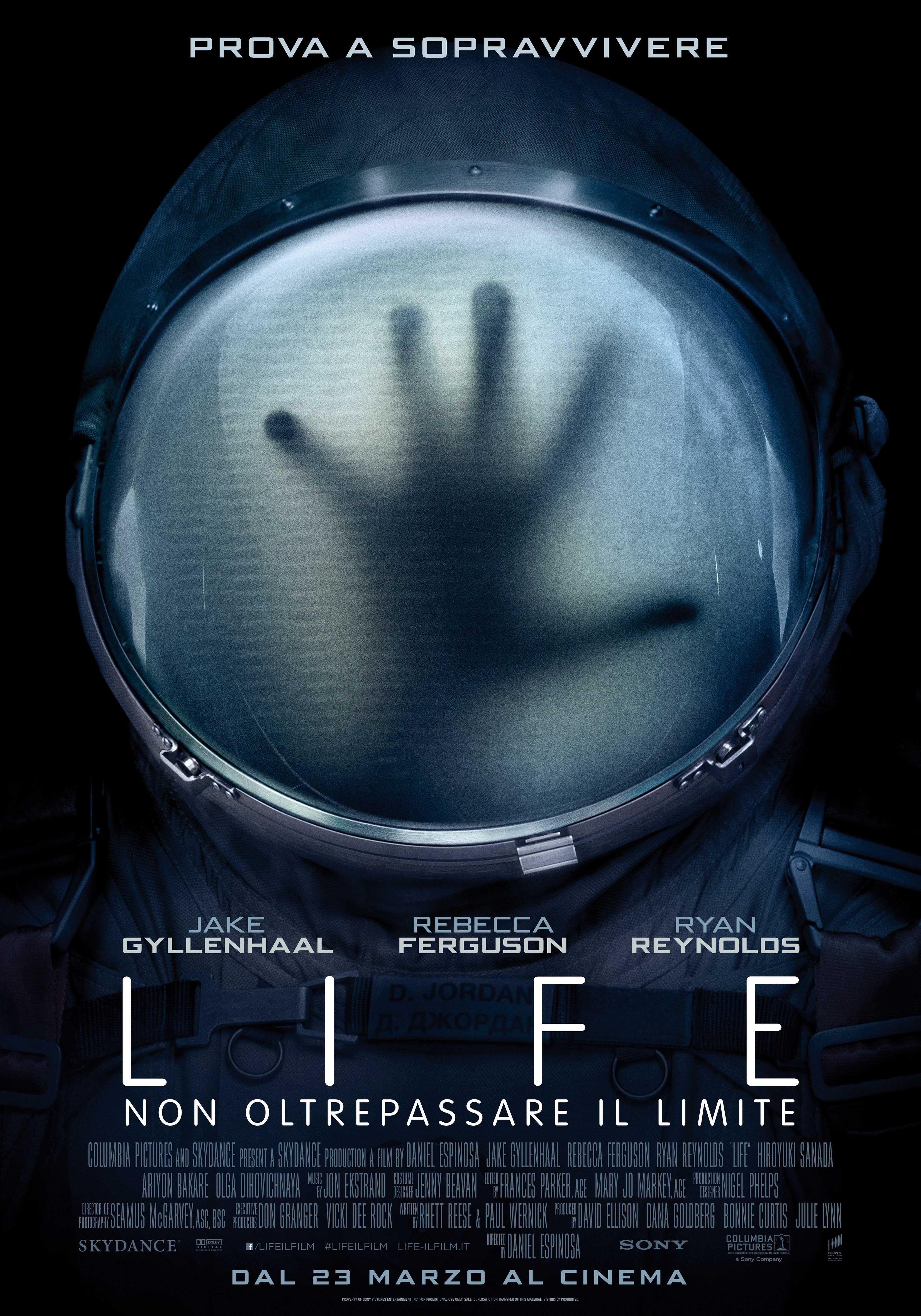 LIFE – NON OLTREPASSARE IL LIMITE, il nuovo thriller fantascientifico con Ryan Reynolds e Jake Gyllenhaal.