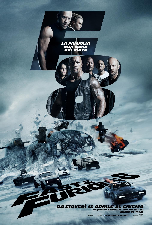Fast & Furious 8 : Poster ufficiale italiano e aperte le prevendite
