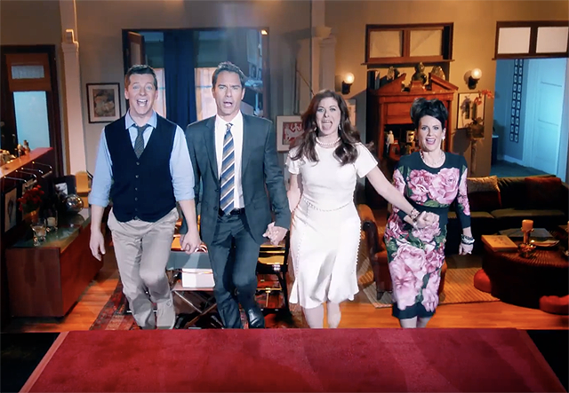 Video-musical di 5 minuti come nuovo trailer di Will & Grace