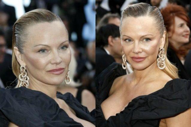 Pamela Anderson, un'ex bagnina a Cannes.