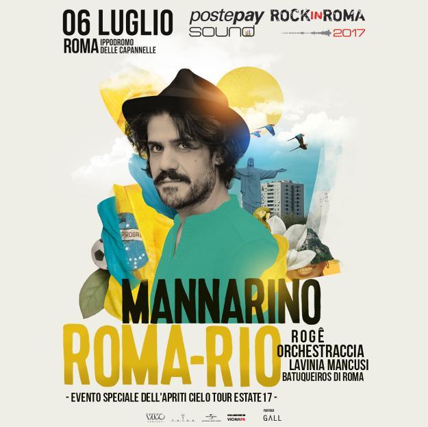 POSTEPAY SOUND ROCK IN ROMA MANNARINO 6 IN CONCERTO IL 6 LUGLIO