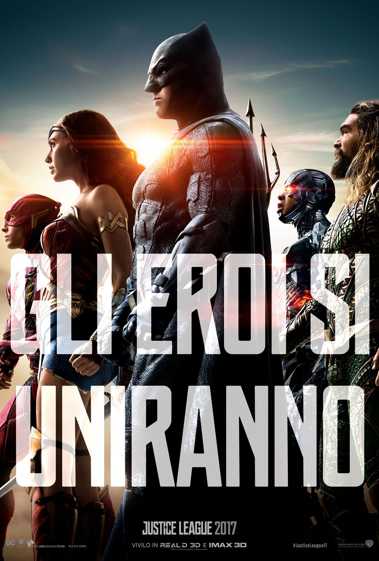 Justice League : nuovo trailer italiano