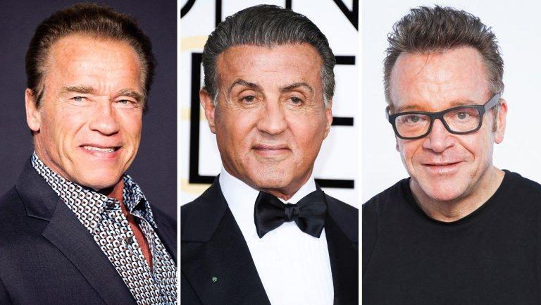 70 anni di Arnold Schwarzenegger: grande festa con Sylvester Stallone e Tom Arnold! (video)