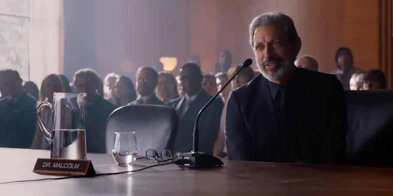 Il ritorno di Jeff Goldblum nei panni dI Ian Malcolm in JURASSIC WORLD 2