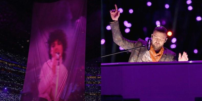 Justin Timberlake omaggia Prince durante il Superbowl in duetto virtuale