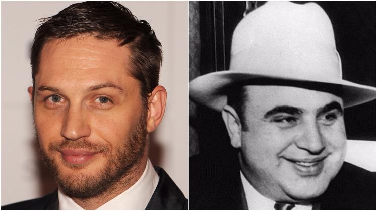 """Prime immagini di Tom Hardy nelle vesti di Al Capone per il film """"Fonzo"""""""