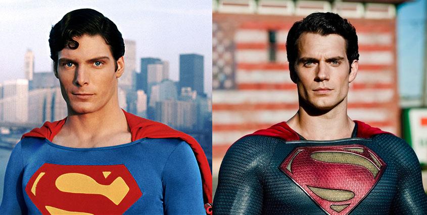 Superman: foto inedita di Henry Cavill con il costume originale di Christopher Reeve