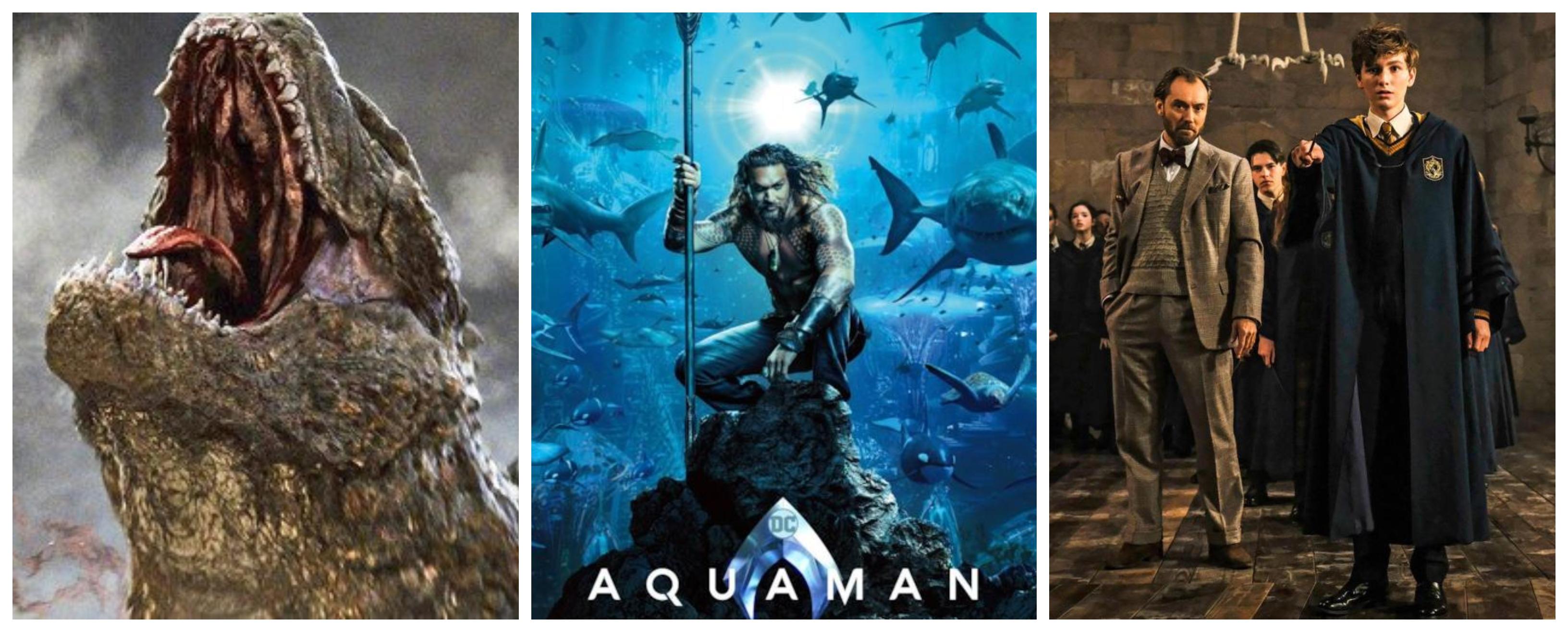 Tutti i nuovi trailer del Comic Con 18: AQUAMAN, ANIMALI FANTASTICI 2, GODZILLA 2