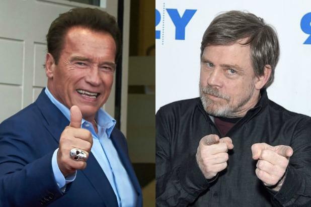 """Il consiglio sbagliato di Mark Hamill a Schwarzenegger: """"Devi togliere l'accento straniero e cambiare cognome"""""""