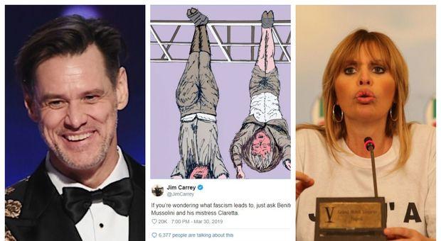 """Jim Carrey replica alla Mussolini: """"Non sapevo nemmeno che esistesse. È sconcertante che sia al governo"""""""