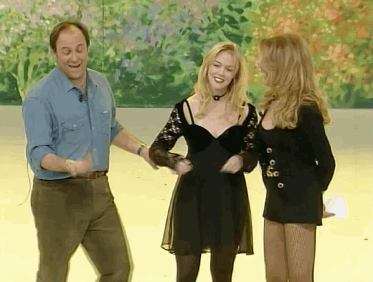 """Quando Jennie Garth è stata ospite di Gerry Scotti a """"Buona Domenica"""""""