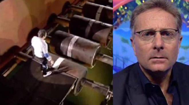 Ciao Darwin, Bonolis parla dell'incidente del gioco sui rulli. «Questo studio è pieno di trabocchetti»