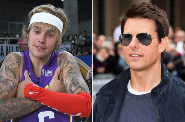 Justin Bieber sfida Tom Cruise a botte