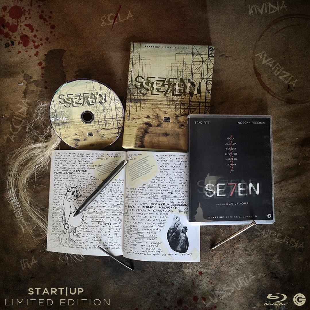 Seven un film di David Fincher, con Brad Pitt in edizione limitata home video grazie a CG Entertainment