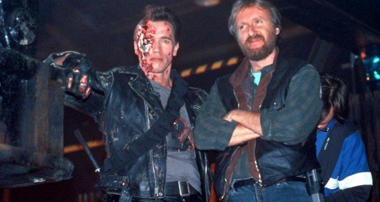 Gli auguri di Schwarzenegger a James Cameron con il primo storyboard inedito di Terminator