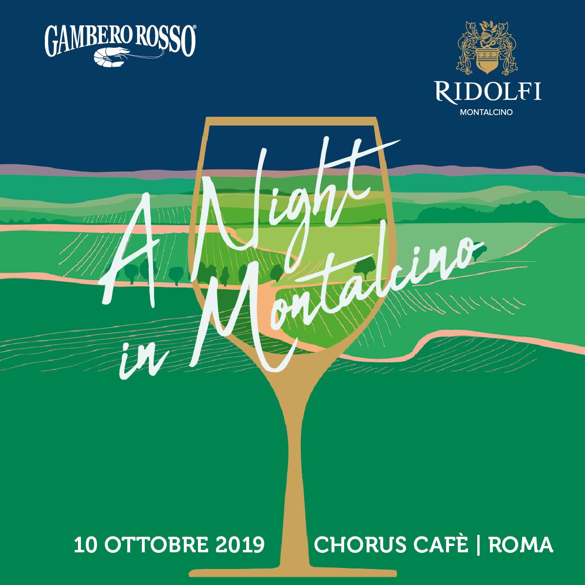 A Night in Montalcino: evento degustazione GAMBERO ROSSO