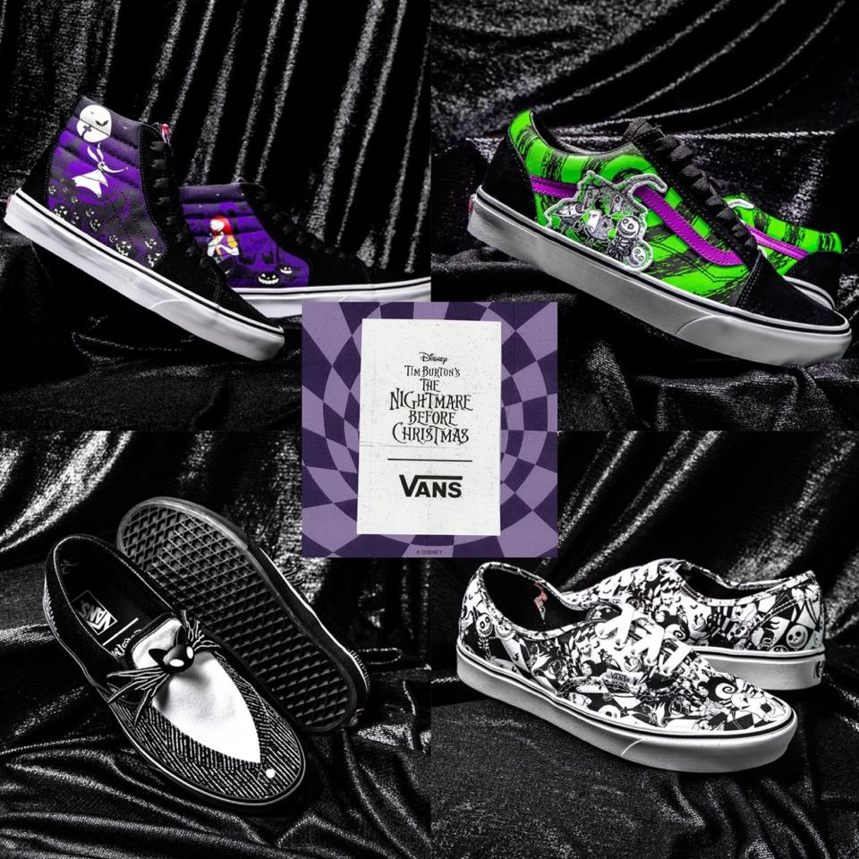 Nightmare Before Christmas: la Vans crea una linea di scarpe tutte ispirate al film