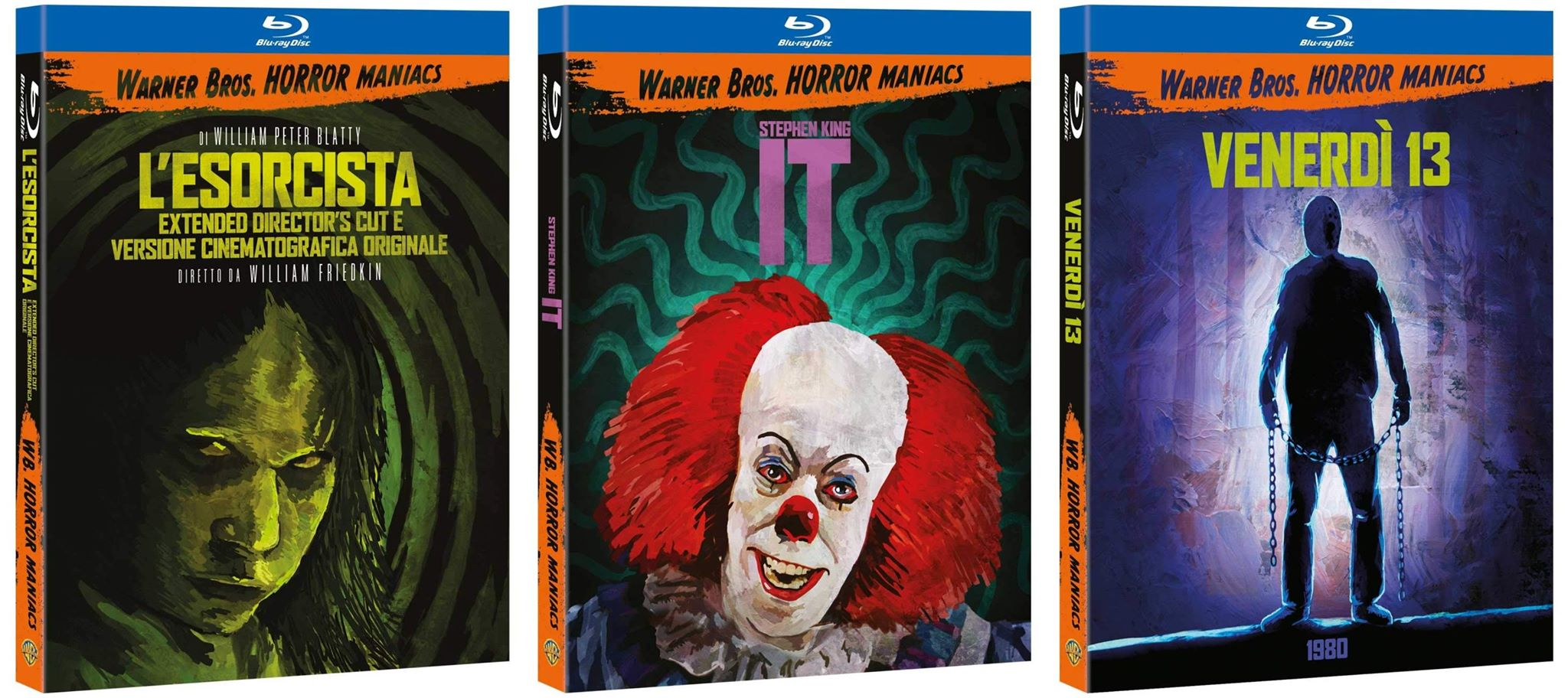 Warner Bros Home video ottobre, disponibile la Horror Maniacs Collection