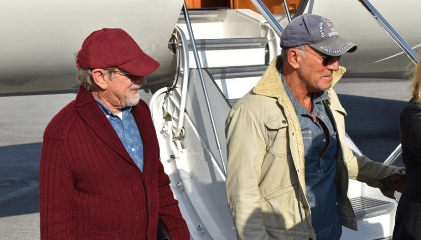 Steven Spielberg e Bruce Springsteen in vacanza insieme in Liguria