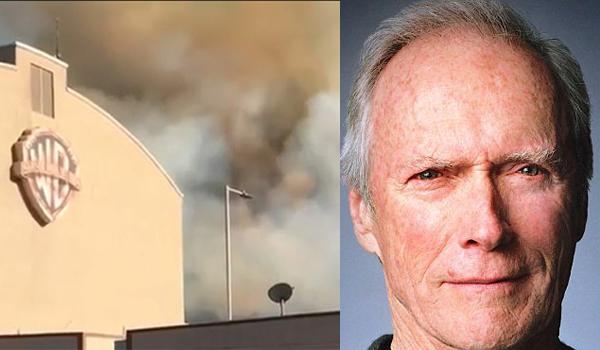 """Incendio agli studios di Hollywood, Clint Eastwood si rifiuta di uscire: """"C'è del lavoro da finire."""""""