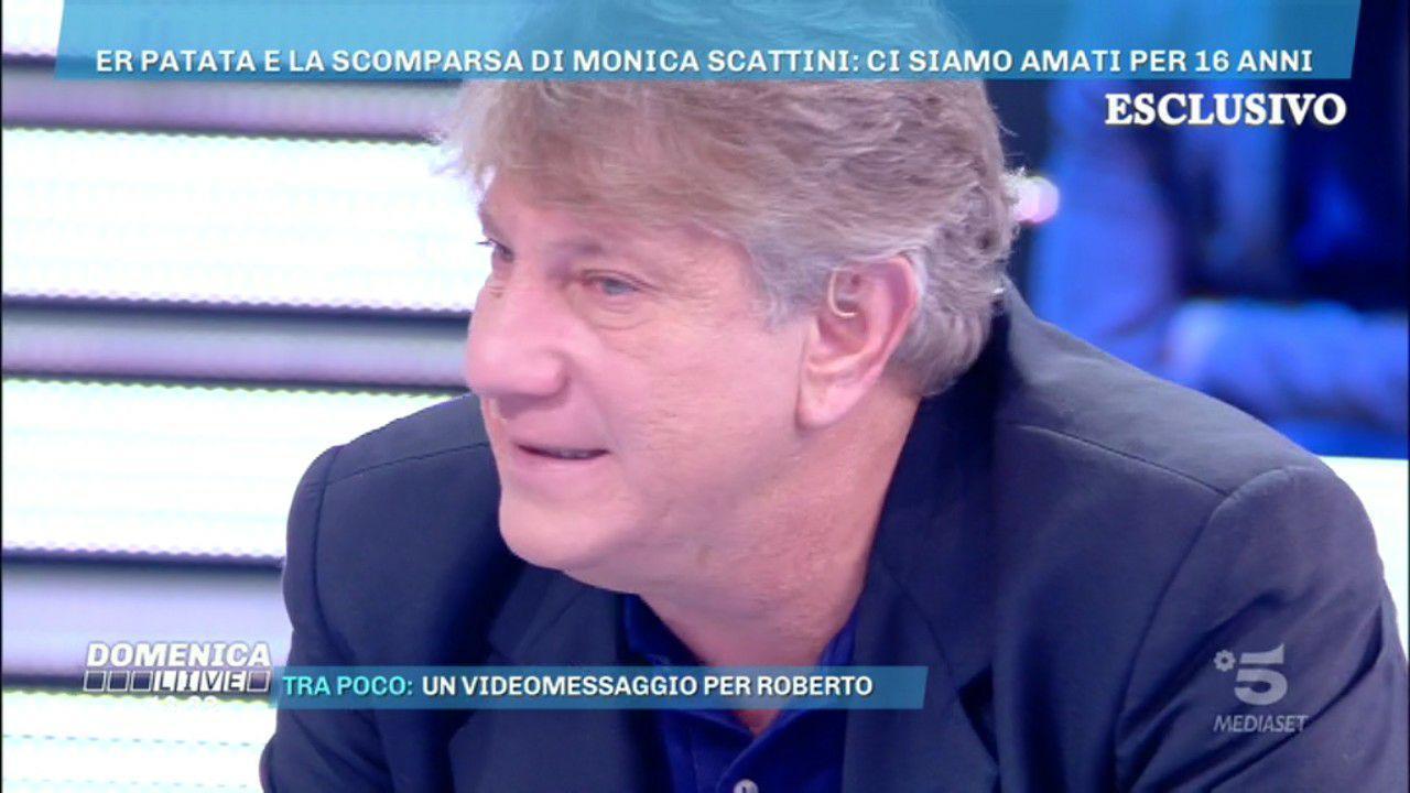 """Roberto Brunetti """"er patata"""" a Domenica Live: «Sono uscito dal carcere. Ora voglio ricominciare»"""