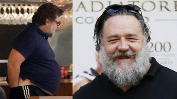 Russell Crowe sempre più irriconoscibile: il pancione continua a lievitare