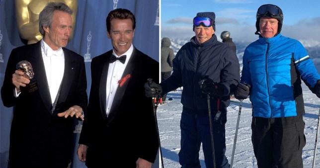 Arnold Schwarzenegger e Clint Eastwood insieme sulla neve e il web impazzisce