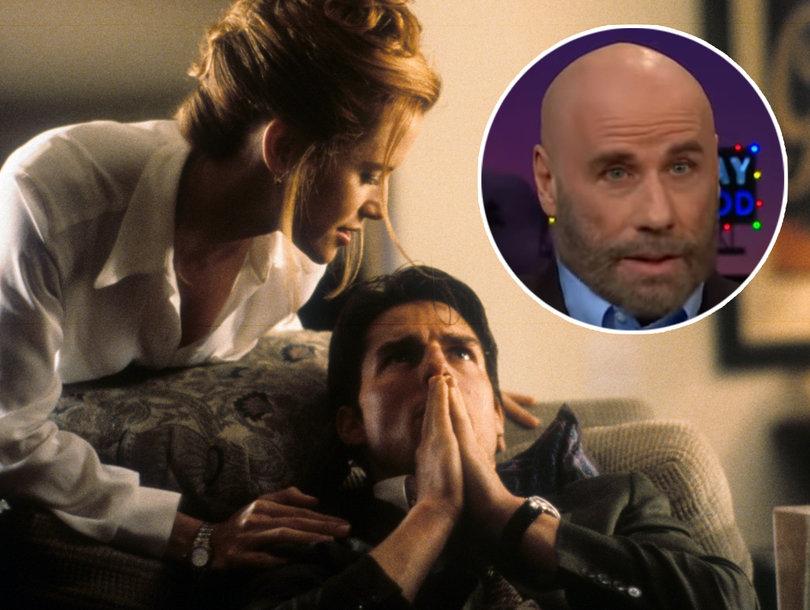 """John Travolta non aveva idea della scena di sesso tra sua moglie e Tom Cruise in """"Jerry Maguire"""""""