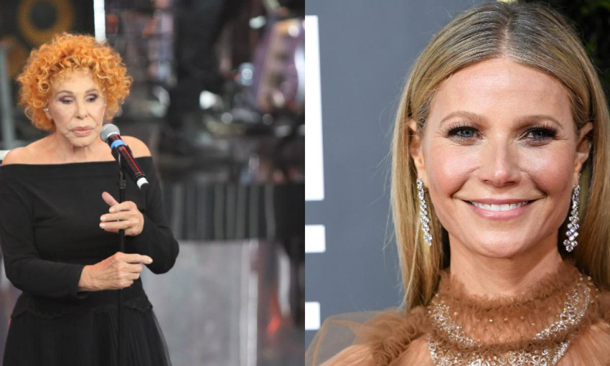 Ornella Vanoni chiede la candela di Gwyneth Paltrow al posto dei fiori a Sanremo