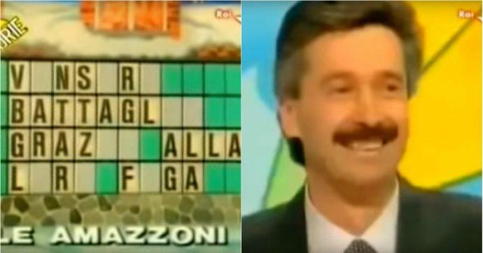 """Venticinque anni fa il signor Giancarlo a """"La ruota della fortuna""""disse: """"Vinsero battaglie grazie…"""""""