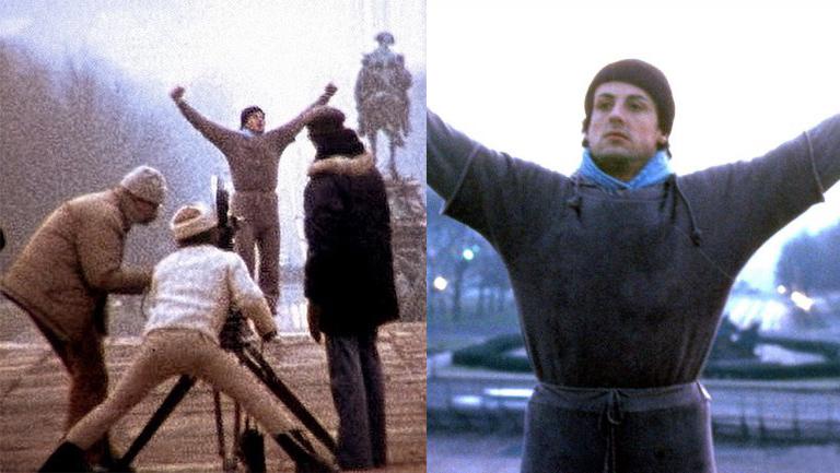 Rocky e la rara foto dal set durante un'iconica scena