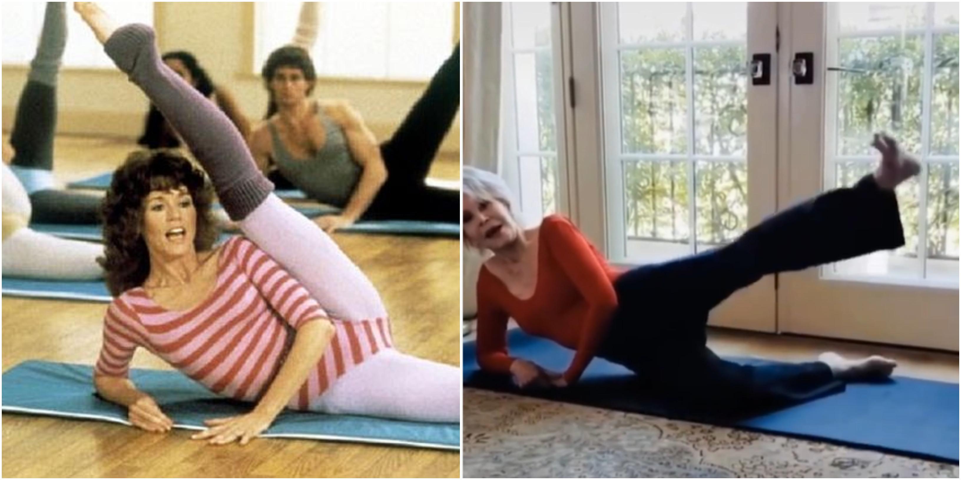 Jane Fonda come negli anni '80 rifà un video dei suoi celebri 'workout'