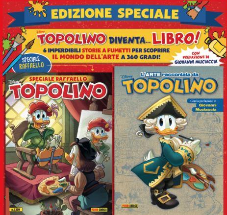 TOPOLINO celebra i 500 anni dalla scomparsa di RAFFAELLO SANZIO con un numero speciale