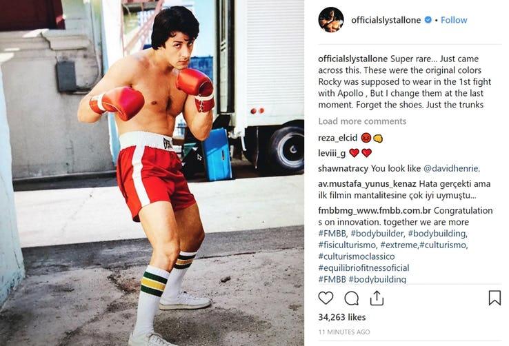 Rocky, all'inizio il pantaloncino dell'incontro aveva un colore diverso