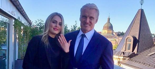 Dolph Lundgren si sposa con una modella 24enne: i fan lo criticano e Stallone risponde