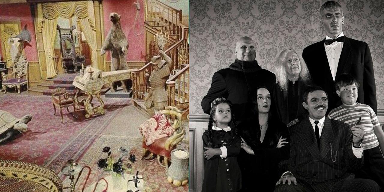 Famiglia Addams: il Set della serie anni 60 era di colore rosa, ecco le foto