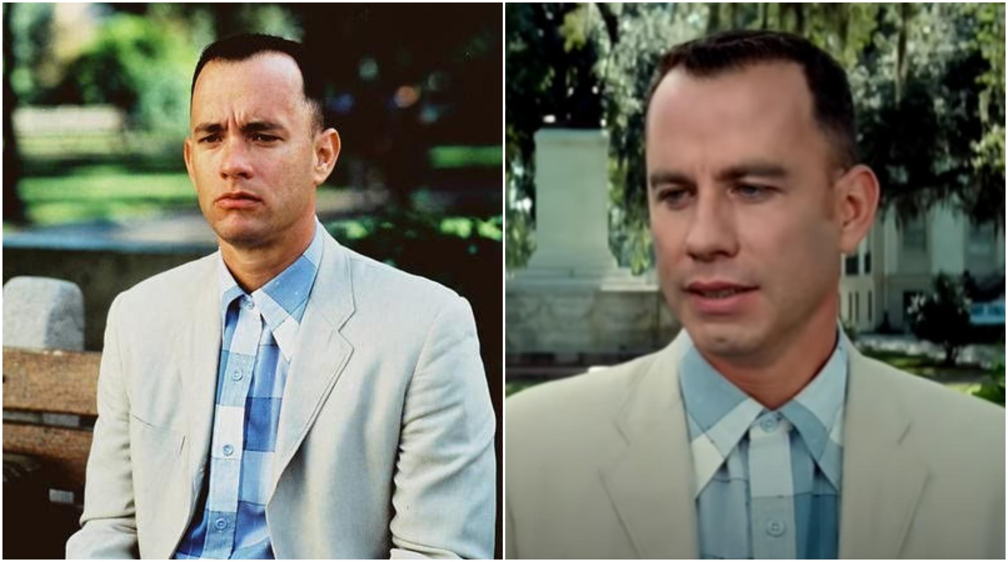 Forrest Gump, un video ci mostra come sarebbe stato John Travolta al posto di Tom Hanks
