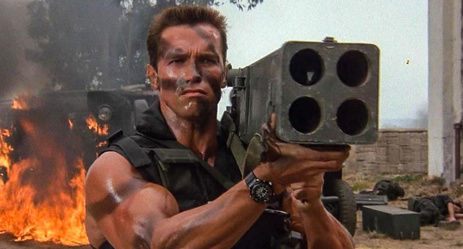Commando: la brutale scena mai realizzata insieme all'iconica battuta di Schwarzenegger