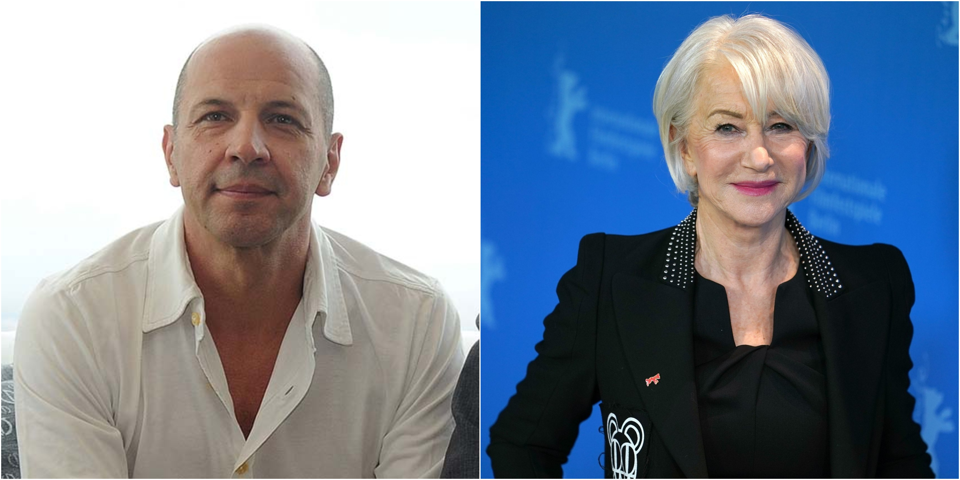 Helen Mirren e Aldo Baglio, la coppia che non ti aspetti: lei gli smacchia la giacca [VIDEO]