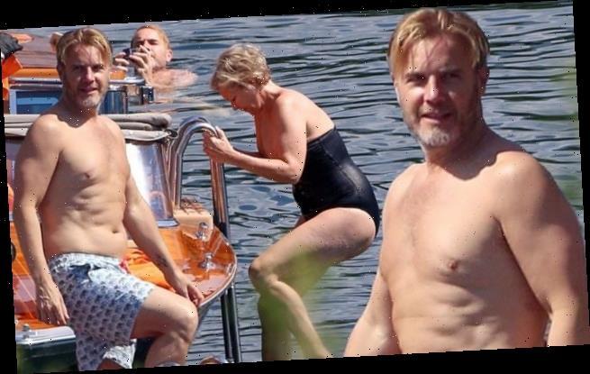 Gary Barlow (Take That) in vacanza sul lago di Como per i 50 anni della moglie