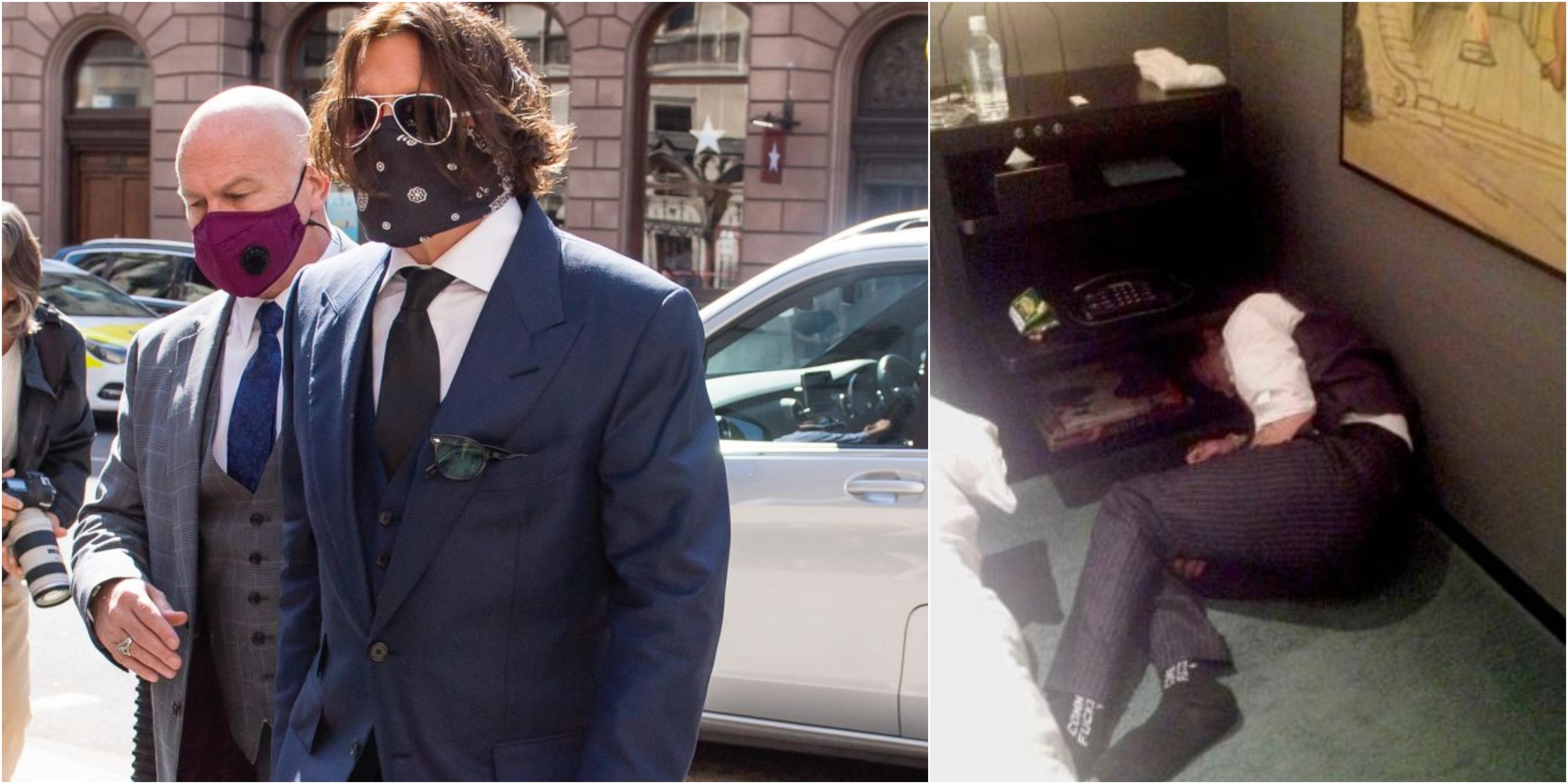 Johnny Depp, le foto shock diffuse da Amber Heard con strisce di cocaina e alcol
