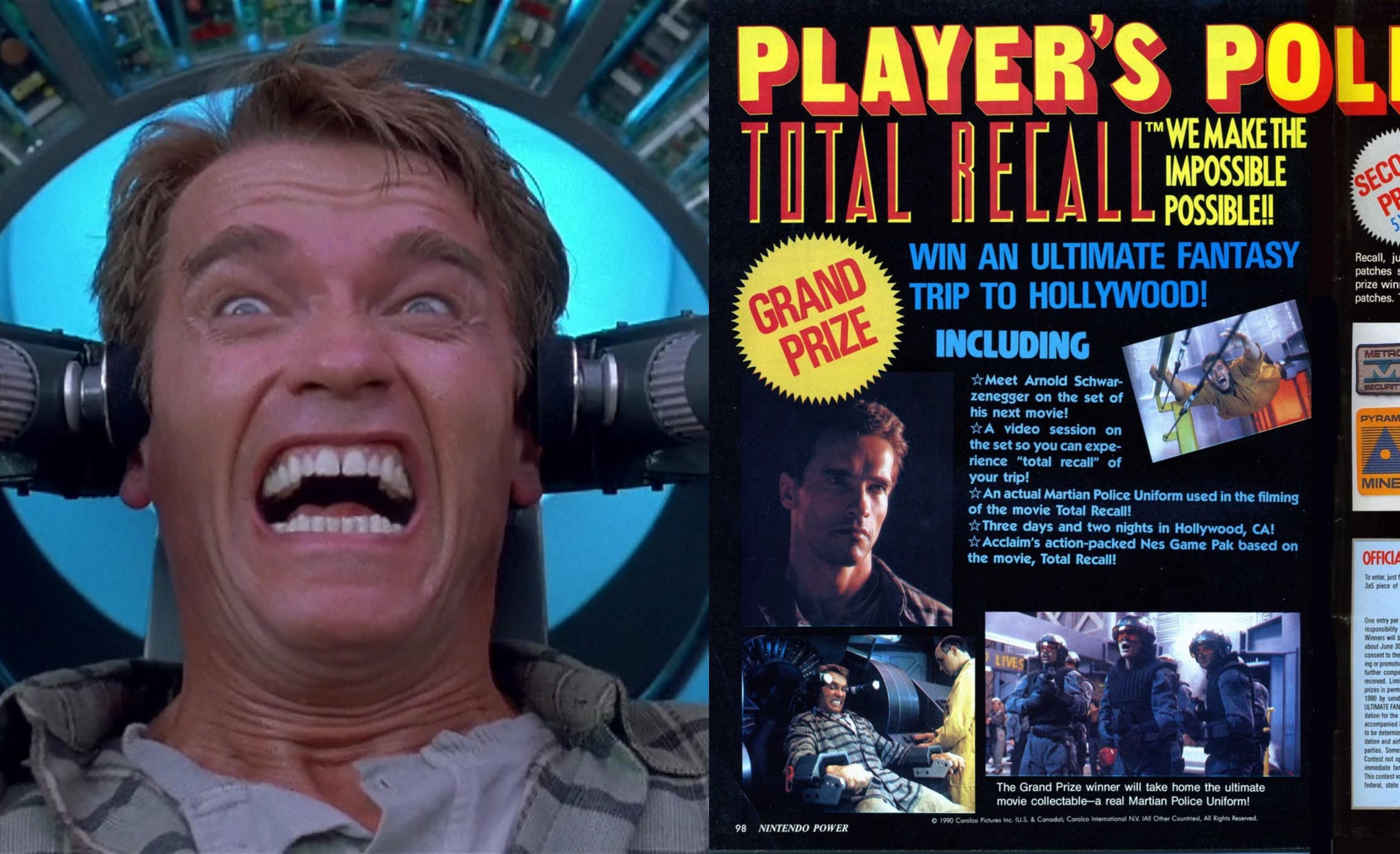 Atto di forza: tutto il cast si ammalò sul set tranne Schwarzenegger e l'ingannevole concorso del videogioco
