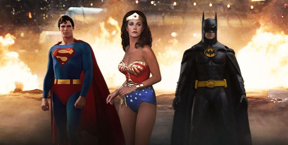 Christopher Reeve, Lynda Carter, Michael Keaton e altri interpreti 'retro' in un nostalgico trailer Justice League