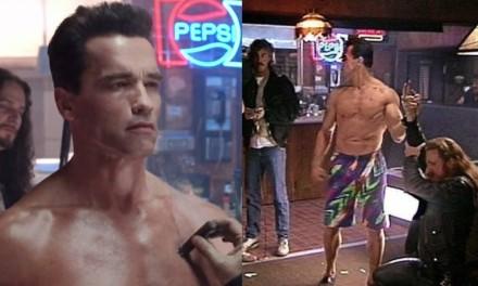 """Terminator 2, Cameron: """"Arnold indossò il più brutto costume da mare nella scena del nudo iniziale"""""""