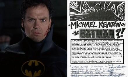 """Batman, le proteste dell'89: """"Scegliendo Michael Keaton avete defecato sulla storia di Batman"""""""