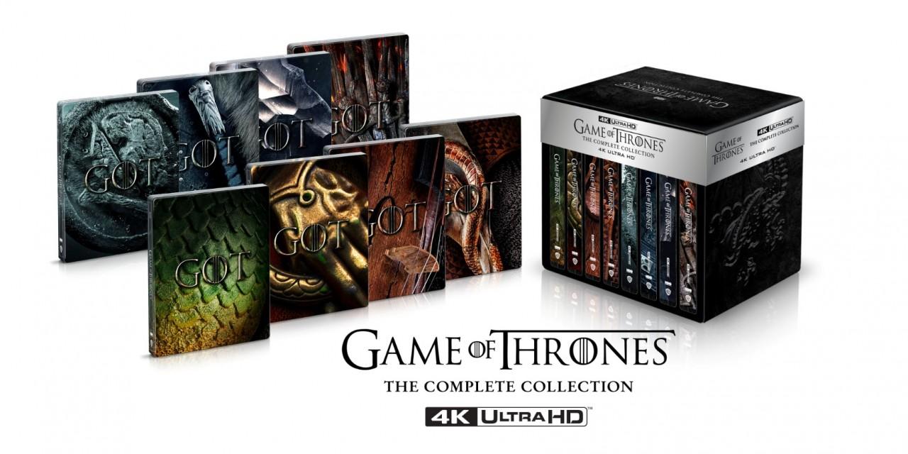 Il Trono di Spade: dal 12 Novembre in uscita il cofanetto deluxe steelbook Limited Edition in 4K Ultra HD Blu-ray
