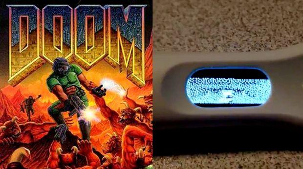 Doom: un video mostra il gioco del 1993 girare su un test di gravidanza!