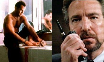 Die Hard, le scarpe di gomma di Bruce Willis nella scena dei vetri, la perdita dell'udito e l'infortunio di Alan Rickman