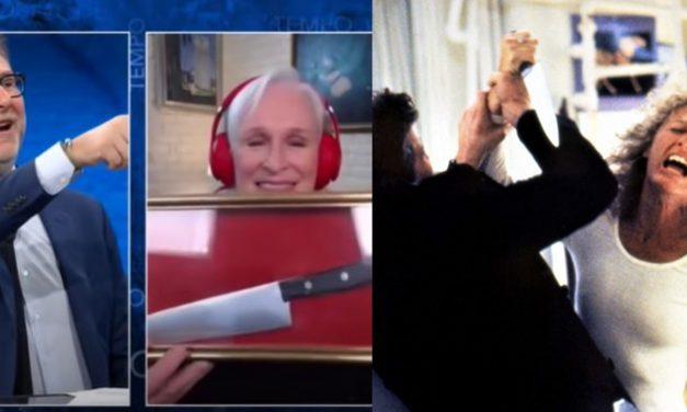 """Glenn Close tiene in casa il coltello che usò in Attrazione Fatale: """"È fatto di carta"""""""