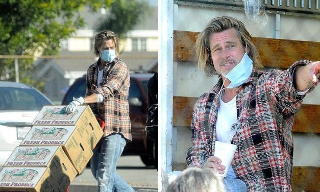 Brad Pitt cuore d'oro: distribuisce la spesa alle famiglie disagiate